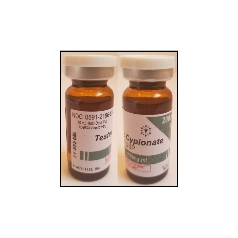 Testosterone Cypionate - 200mg/ml 10ml/vial - PIVOTAL - USA - Puritysourcelabs