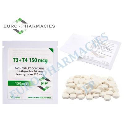 T3+T4 - ( T3-30mcg + T4-120mcg) -150mcg/tab EP