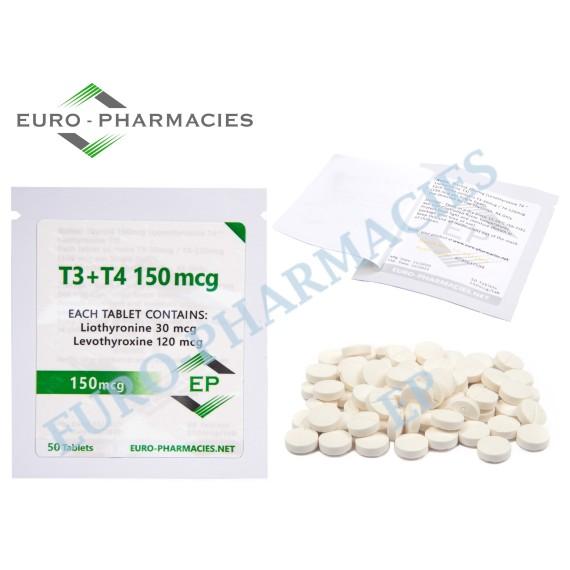 T3+T4 - ( T3-30mg + T4-120mg) -150mcg/tab EP