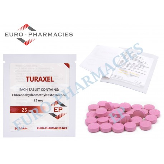 Turaxel (Turanabol) - 25mg/tab EP - USA